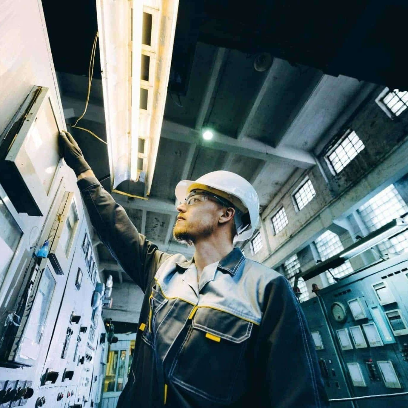 power plant worker energy industrial factory inspector expertise